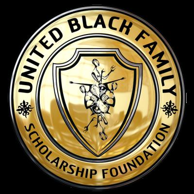 Round golden logo with United Black Family Scholarship Foundation